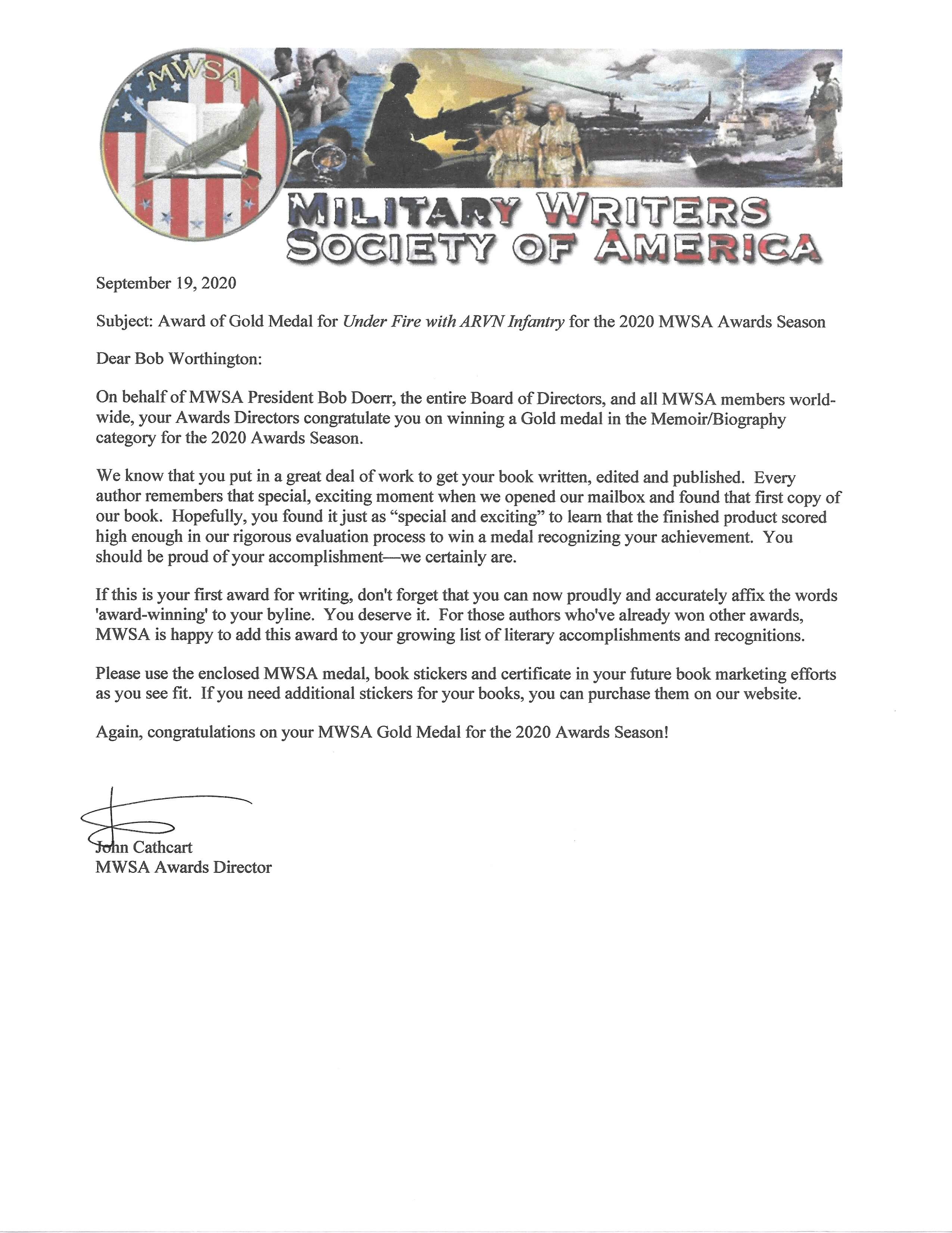 MSWA award letter 2020